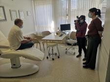 Un tournage sur le traitement chirurgical de la migraine à la clinique Global